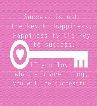 quotes: Inspirational success quote on pink background