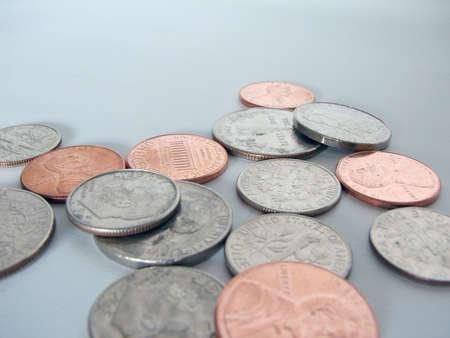 EE.UU. monedas Foto de archivo - 335406