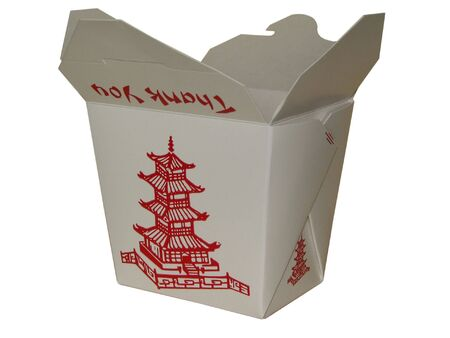 small white chinese to go box