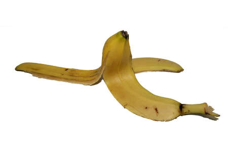 banana skin left opened that could trap people who step on it