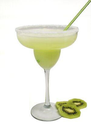 green margarita decorated with sliced kiwi Stock fotó