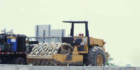 bulldozer vehicle doing its job