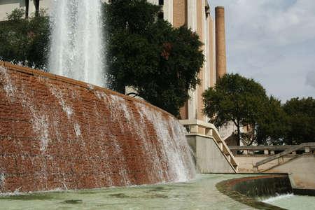 university fountain: big fountain water somewhere in university of austin area