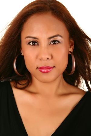 smoothen: head shot of pretty woman with great smooth skin. skin was smoothen no noise reduction used