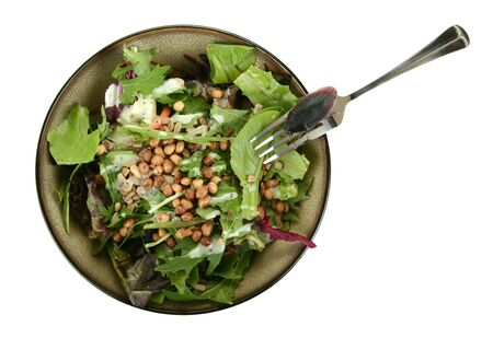 delicious salad with roach on the fork euy......