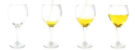 empty wine glass, pouring wine, pouring more wine, half full wine glass photo