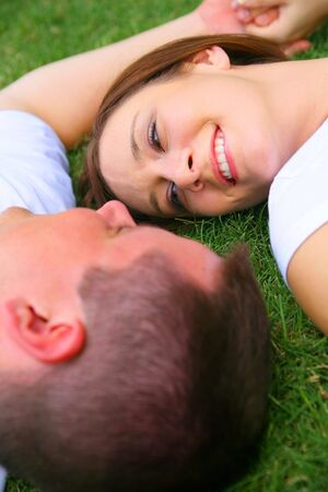 couple looking at each other. concept for  and happiness Stock Photo - 3281549