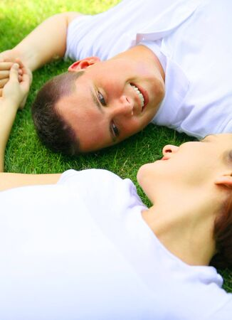 romantic couple looking at each other. concept for family and happiness Stock Photo - 3330532