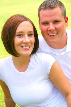 soulmate: portrait of happy couple Stock Photo