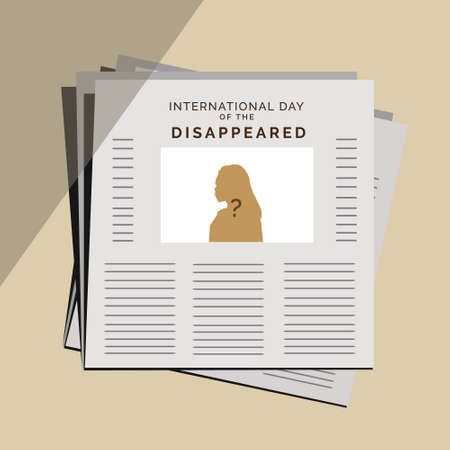 International Day of the Disappeared, vector illustration design for missing person day theme Ilustración de vector