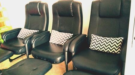 pillows: Massage chairs Stock Photo