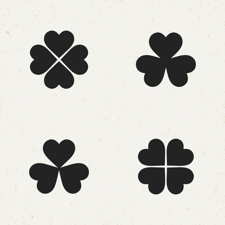 clover icon: Isolated flat  clover icon set for web sites and apps.