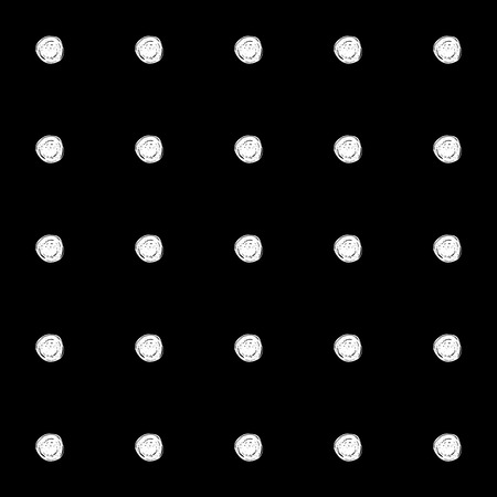 mess: Abstract polka dot pattern with hand drawn polka dots. Cute messy vector black and white polka dot pattern. Seamless monochrome polka dot pattern for fabric, wallpapers, wrapping paper, cards and web. Illustration