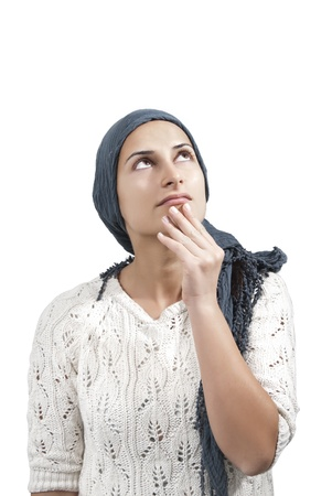 Female with Blue Veil Think Stock Photo - 15158941