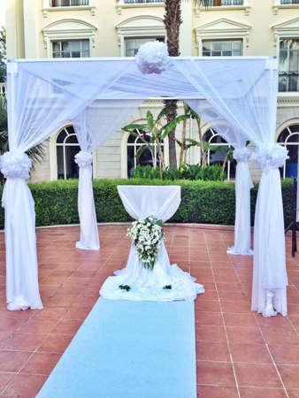 mariage: Wedding altar Stock Photo
