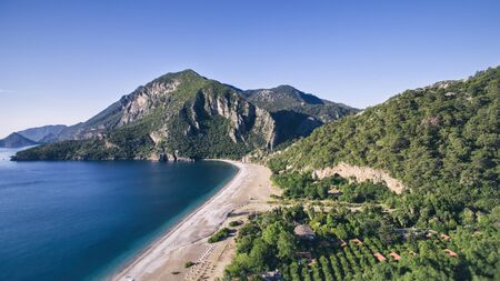 ridge of wave: Mediterranean Sea and Mountain Antalya Turkey