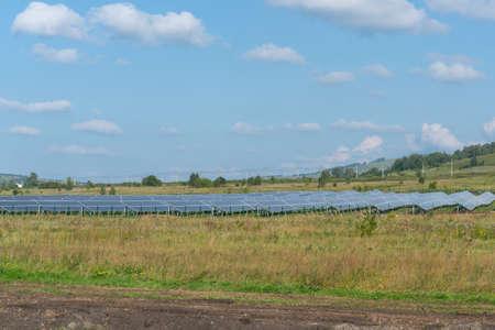 Solar panels in the field