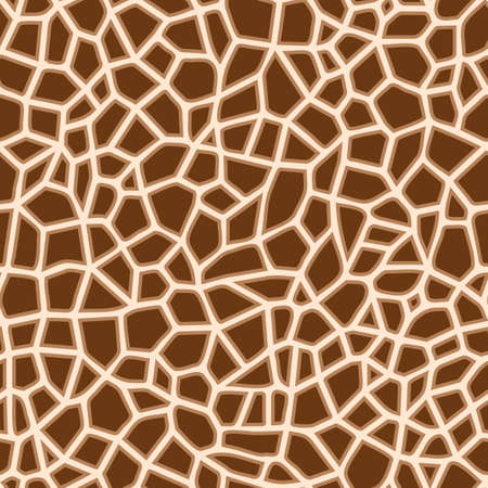 giraffe skin pattern design with brown color and evenly patterned, can be used for fabrics, textiles, wrapping paper, tablecloths, curtain fabrics, clothing etc.