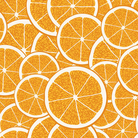 design pattern of flat sliced florida orange overlaps with the front perspective, can be used for fabric, textile, wrapping paper, table cloth, curtain fabric and etc.