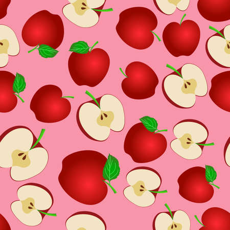 apple pattern design with attractive color gradation, can be used for fabric, textile, wrapping paper, table cloth, curtain fabric, etc.