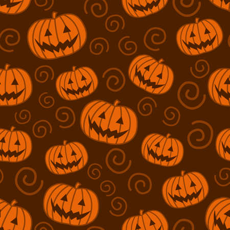 Hallowen pumpkin patterns, designed for textiles, fabric, and wrapping paper