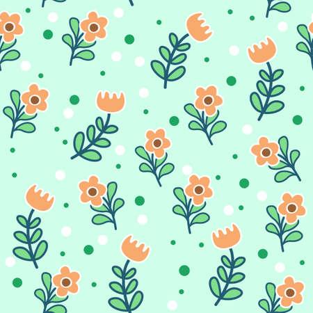 simple and edged flower patterns arranged randomly