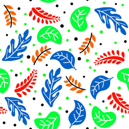 full color patterns with various plants, with a white background
