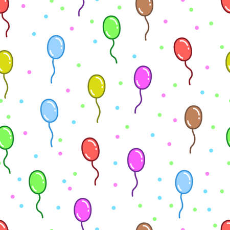 Colorful and fun flying balloon pattern designs, can be used for fabrics, textiles, wrapping paper, tablecloths, curtain fabrics, clothing etc. 向量圖像