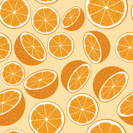 colorful florida orange fruit flat pattern design with a white background, can be used for fabric, textile, wrapping paper, table cloth, curtain fabric and etc.