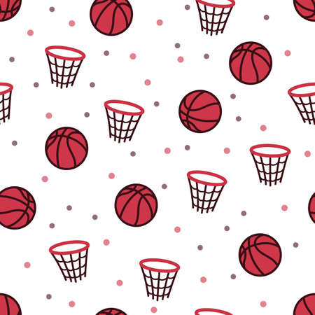 The design of basketball and net patterns, for those who like basketball, can be used for fabrics, textiles, wrapping paper, tablecloths, curtain fabrics, clothing etc. Illustration