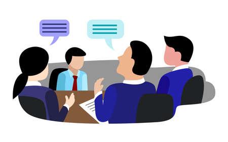 flat recruitment selection employee vector Vektorové ilustrace