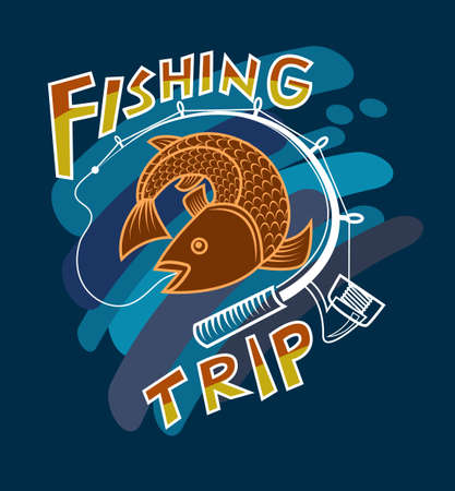 Design logos or images for fishing adventures