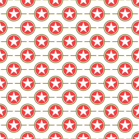 design vector pattern of stars, inside a red circle on a white background  イラスト・ベクター素材