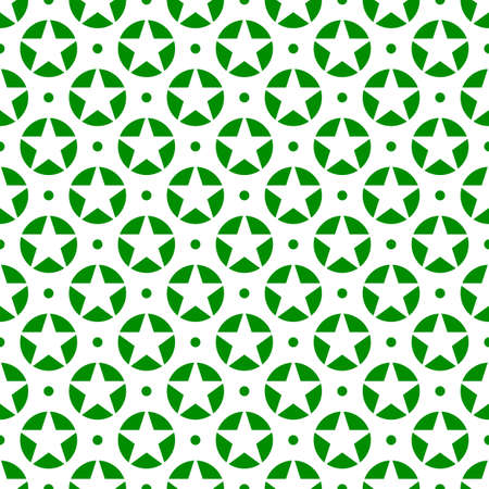 vector design of star patterns inside a green circle on a white background