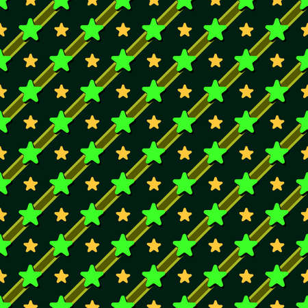 vector design of star patterns with deep green shades