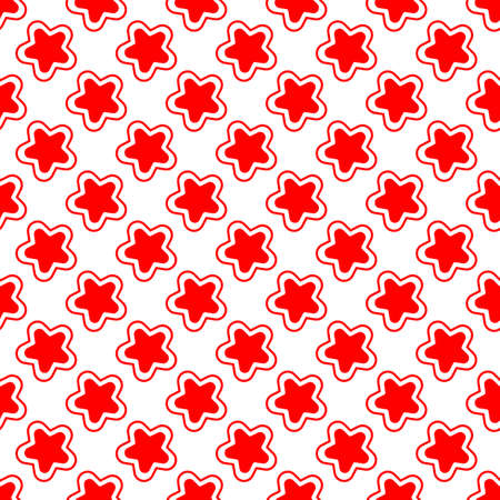 vector design of a red star pattern with edge outlines