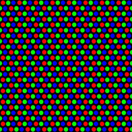 pc crt pixel pattern vector design, with rgb color