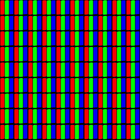 LCD pixel vector pattern design, with RGB color