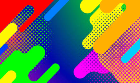 bright colorful diagonal abstract vector background design with halftone  イラスト・ベクター素材