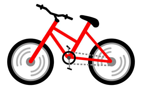 vector bike with a simple and flat design