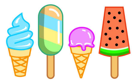 ice cream vector with different variants Illustration