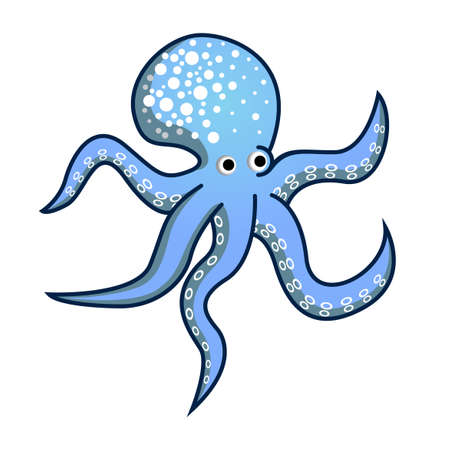 vector octopus with its tentacles  イラスト・ベクター素材