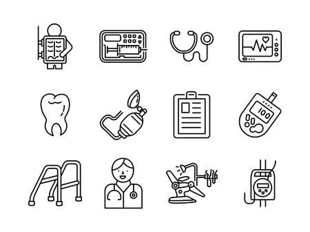 Advanced design Healthcare and Medical vector line icons, style 1 vol 2, suitable for web, mobile apps and etc.