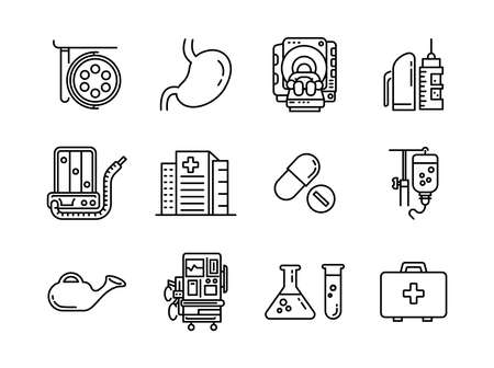 Advanced design Healthcare and Medical vector line icons, style 1 vol 4, suitable for web, mobile apps and etc.