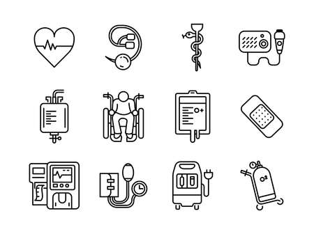 Advanced design Healthcare and Medical vector line icons, style 1 vol 5, suitable for web, mobile apps and etc.