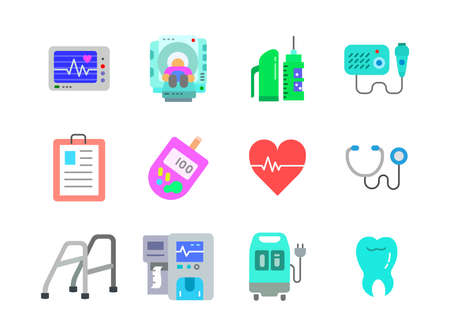 Advanced design Healthcare and Medical vector flat color icons, style 1 vol 5, suitable for web, mobile apps and etc.