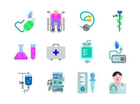Advanced design Healthcare and Medical vector flat color icons, style 1 vol 4, suitable for web, mobile apps and etc.