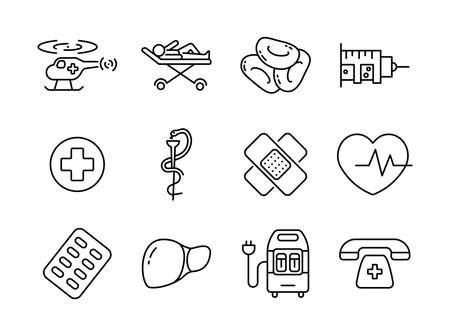 Advanced design Healthcare and Medical vector line icons, style 2 vol 5, suitable for web, mobile apps and etc.