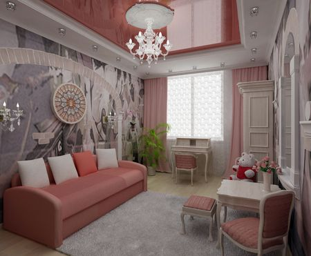 cozy interior room with a window and furniture photo