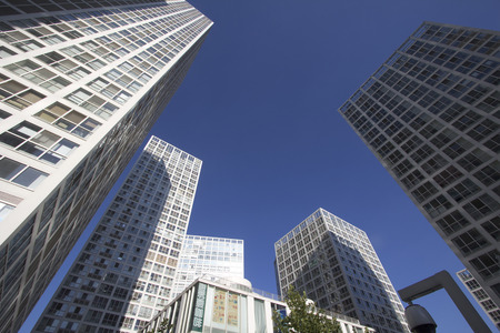 high rise buildings: High rise buildings in a city